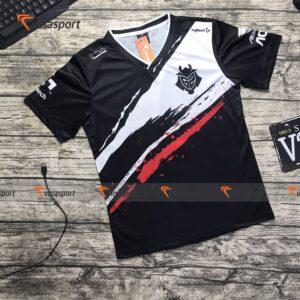 Áo thun game thi đấu Esports mẫu G2 Pro 2019 đen nam ngắn tay mẫu đẹp chất thân trước