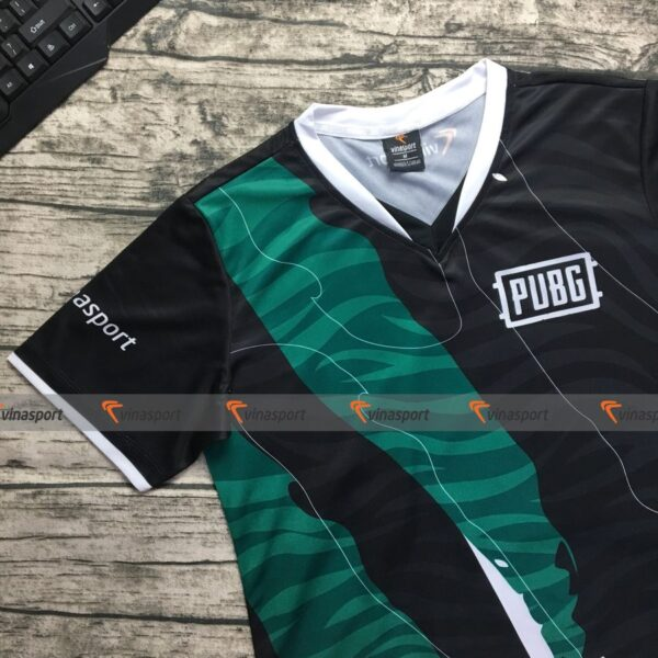 Ao-thun-game-thi-đau-Esports-nam-ngan-tay – Mau- thiet- ke Tiger Green